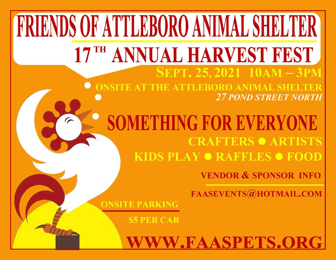 17th Annual Harvest Fest September 25, 2021, 10am to 3pm. Crafters - Artists - Kids Play - Raffles - Food